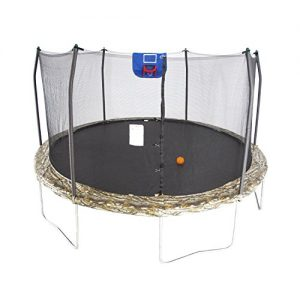 15-Foot Jump N' Dunk Trampoline with Enclosure Net