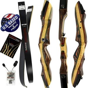 "Southwest Archery Tigershark Takedown Recurve Bow – 62"" Recurve"