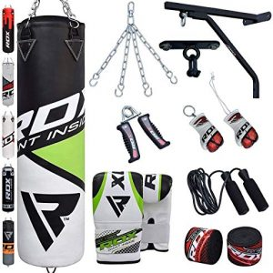 Punching Bag Filled Wall Bracket Boxing Training MMA