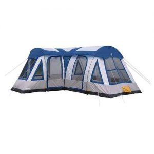 Tahoe Gear Gateway 10 to 12 Person Deluxe Cabin Family Camping Tent, Navy Blue