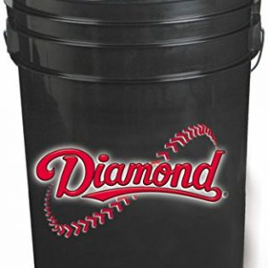 Diamond 6-Gallon Ball Bucket with 30 DOB Baseballs, Black