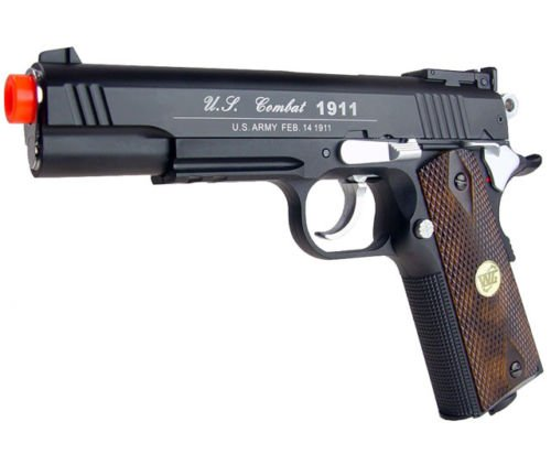 500 fps new full metal wg airsoft m 1911 gas co2 hand gun pistol