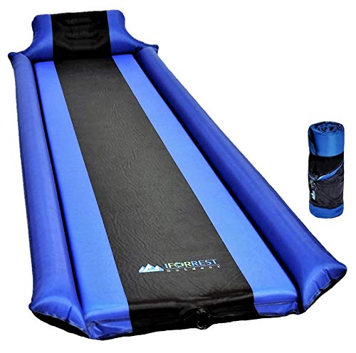 Ultra Comfortable Self-Inflating Sleeping Pad with Inflatable Armrest