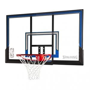 Spalding Wall Mount Basketball Hoop with 50-Inch Polycarbonate Backboard
