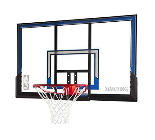 Spalding Wall Mount Basketball Hoop with 50-Inch Polycarbonate Backboard