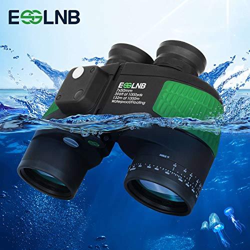 Marine Binoculars with Night Vision Compass Rangefinder