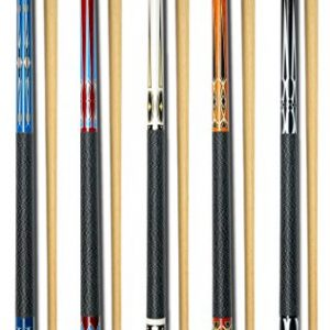 "Set of 5 Pool Cues New 58"" Billiard House Bar Pool Cue Sticks"