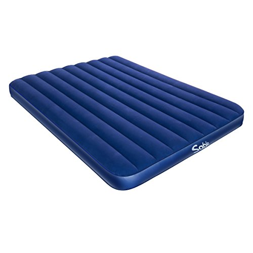 Inflatable Air Bed with Extra Thick Flocked Top