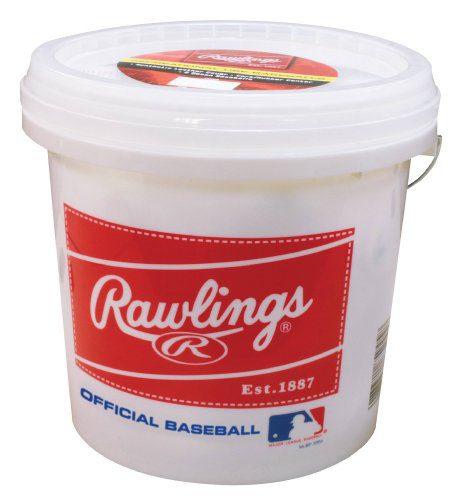 Rawlings Official League Recreational Grade Baseballs, Bucket of 24
