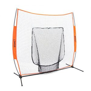Bownet 7' x 7' Big Mouth X - Portable Sock Net Baseball Softball Hitting Pitching