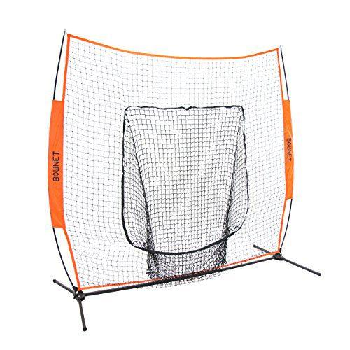 Bownet 7' x 7' Big Mouth X - Portable Sock Net Baseball Softball Hitting Pitching