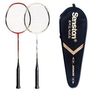 2 Player Badminton Set Double Rackets Carbon