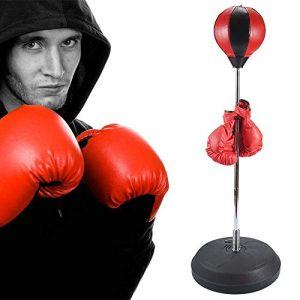 Punching Bag with Standing Inflatable Speed Ball Spring