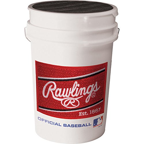 Rawlings Official League Baseballs & Bucket, 24 Count
