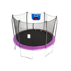 Jump N' Dunk Trampoline with Enclosure Net - Basketball Trampoline