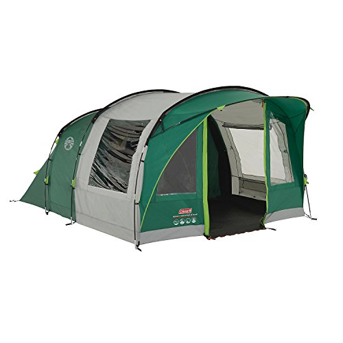 Coleman Rocky Mountain 5+ Tunnel Tent - 5 Person, Green, with Blackout Windows