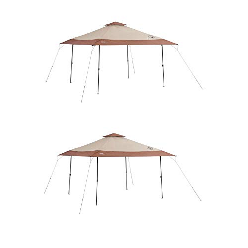 Coleman Camping Tailgating Backyard BBQ Eaved Instant Canopy Shelter (2 Pack)