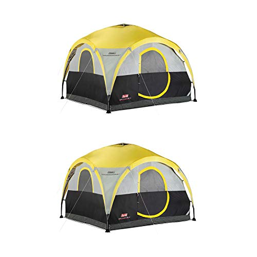Coleman 4 Person Camping Dome Shelter Tent with Canopy