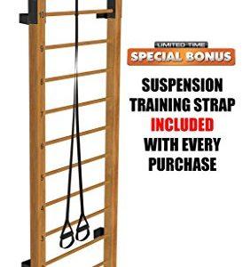 Limitless XVP Fitness Swedish Ladder Wood Stall Bar Suspension Trainer