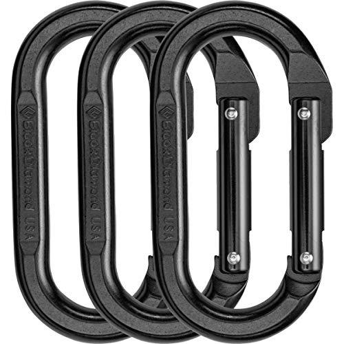 Black Diamond Oval Carabiner - 3-Pack