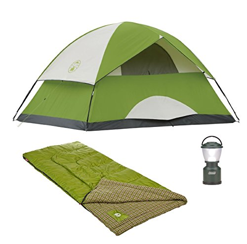 Cool Weather Adult Sleeping Bag, and LED Camp Lantern