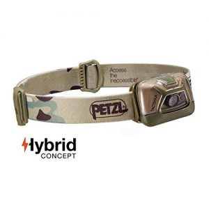 PETZL - TACTIKKA Headlamp, 200 lumens, Ultra-Compact Headlamp