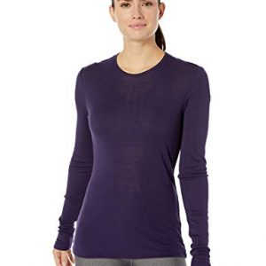 Icebreaker Merino Women's 175 Everyday Long Sleeve Crewe Top, Medium, Lotus