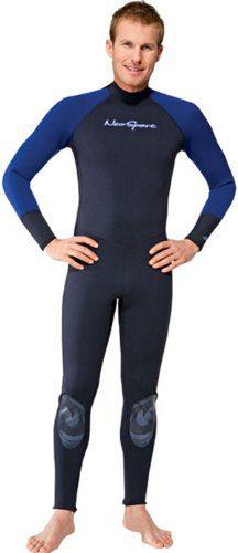 NeoSport Wetsuits Men's Premium Neoprene 1mm Full Suit