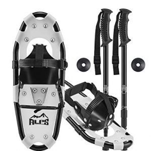 "ALPS Light Weight Kids Snowshoes, Boys & Girls +Trekking Poles,Carrying Tote Bag 14""/17""/19"""