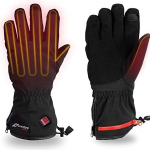Venture Heat Insulated Heated Gloves for Men Women with Battery Pack - Hand Warmer for Skiing Snowboarding Snow, Rechargeable