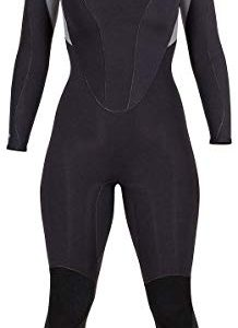 Henderson Women's Thermoprene Pro Wetsuit 3mm Back Zip Fullsuit Black/Lavender
