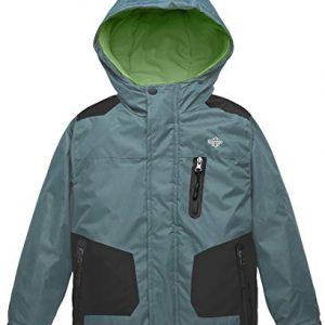 Wantdo Boy's Hooded Ski Jacket Waterproof Winter Coat for Skiing Skating Hiking