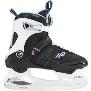 K2 Skate Alexis Ice BOA Skates, Black/White/Blue, Size 9