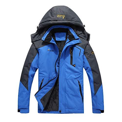 Rainbow Cloud Men's Ski Jacket Waterproof Warm Snowboard Jackets, Windproof Winter Coats Rain Coats Outerwear for Men