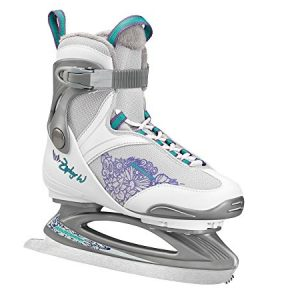 Bladerunner Ice by Rollerblade Zephyr Women's Adult Ice Skates, White and Purple, Recreational, Ice Skates