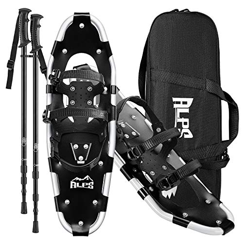 "ALPS Adult All Terrian Snowshoes Set for Men,Women,Youth with Trekking Poles,Carrying Tote Bag14 /17"" / 22""/25""/27""/30"""