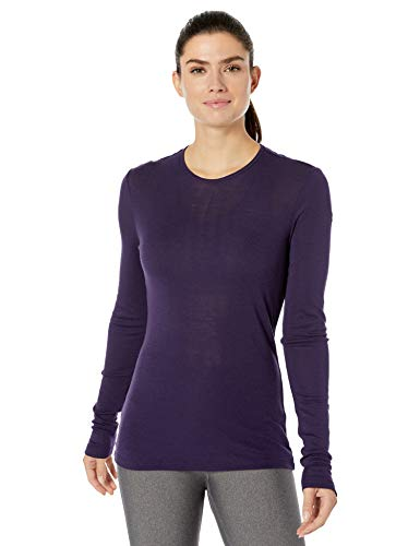Icebreaker Merino Women's 175 Everyday Long Sleeve Crewe Top, X-Large, Lotus