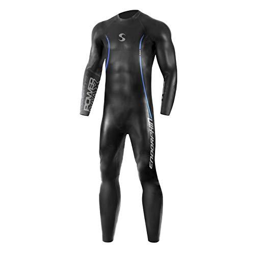 Synergy Triathlon Wetsuit 5/3mm - Men's Endorphin Full Sleeve Smoothskin Neoprene for Open Water Swimming Ironman & USAT Approved