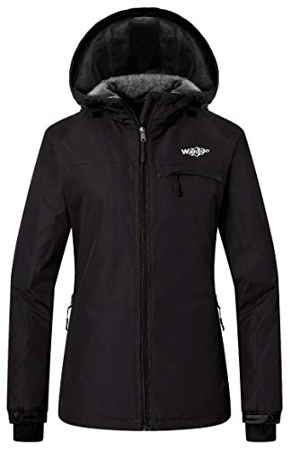 Wantdo Women's Mountain Ski Fleece Jacket Waterproof Windproof Snow Rain Coat