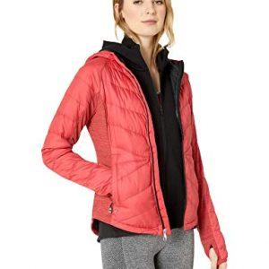SPYDER Women's Solitude Hoody Waterproof Down Jacket for Winter Sports