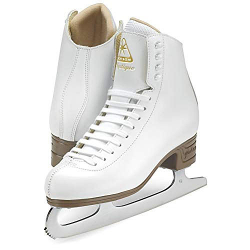 Jackson Ultima Mystique Figure Ice Skates for Women, Girls, Men, Boys in White and Black Colors - Improved, JUST LAUNCHED 2019