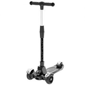 6KU Kids Kick Scooter with Adjustable Height Scooter, Lean to Steer, Large LED Wheels for Children Age 3-12 Years Old