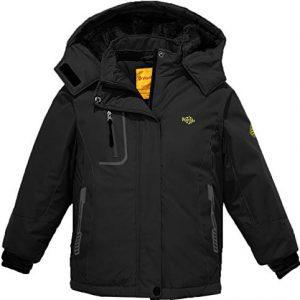 Wantdo Girl's Hooded Ski Fleece Jacket Waterproof Winter Coat Raincoats Outwear