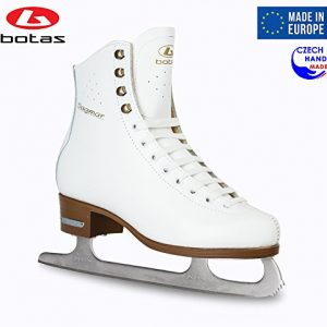 Botas - Model: Dagmar/Made in Europe (Czech Republic) / Figure Ice Skates for Women, Girls, Kids/Sabrina Blades/White Color