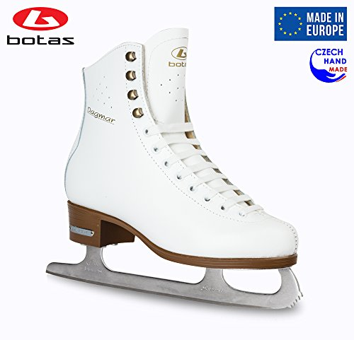 Botas - Model: Dagmar/Made in Europe (Czech Republic) / Figure Ice Skates for Women, Girls, Kids/Sabrina Blades/White Color