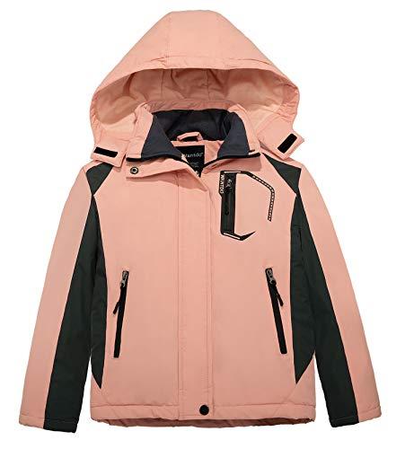 Wantdo Girl's Waterproof Ski Jacket Windproof Inner Warm Fleece Winter Coat