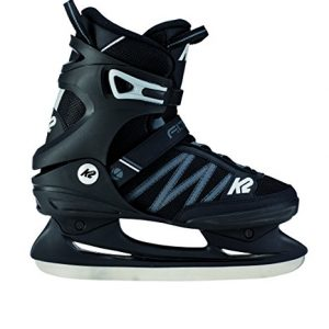 K2 Skate Men's F.I.T. Ice Skate, Black Gray