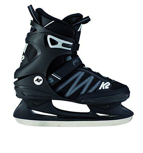 K2 Skate Men's F.I.T. Ice Skate, Black Gray