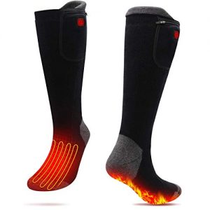 Upgraded Rechargeable Heated Socks Battery Powered Unisex Heating Thermal Electric Socks Foot Warmer Skiing Hunting Walking Motorcycling Riding Winter Warm Socks