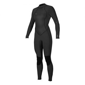 O'Neill Wetsuits Women's Bahia 3/2mm Back Zip Full, Abyss/Faro/Eucalyptus, 14